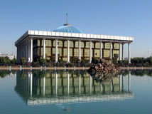 Tashkent Majlis and its reflection in a pond 2007 Stock Photography