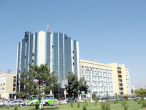 Tashkent office building near Uzbekistan Ave 2007 Stock Image