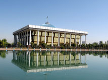 Tashkent pond and Majlis 2007 Stock Photography