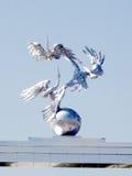 Tashkent the sculpture on Ezgulik Arch 2007 Royalty Free Stock Photography