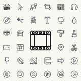 tasiemkowa ścieżka konturu ikona Szczegółowy set minimalistic kreskowe ikony Premia graficzny projekt Jeden inkasowe ikony dla st ilustracji