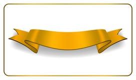Tasiemkowego złocistego sztandaru Atłasowa pusta kolekcja ilustracja wektor