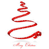 tasiemkowy Bożego Narodzenia drzewo Zdjęcie Royalty Free