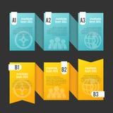 Tasiemkowy Copyspace projekta element Zdjęcie Royalty Free
