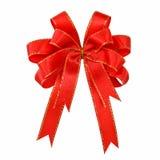 Tasiemkowy czerwony łęk zdjęcie stock