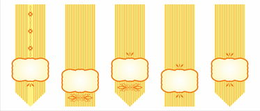 Tasiemkowy emblemat Fotografia Royalty Free