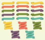 Tasiemkowy ślimacznica sztandaru wektoru set Zdjęcie Stock