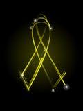 tasiemkowy s weterana kolor żółty Obraz Royalty Free