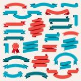 Tasiemkowych sztandarów Retro Inkasowy wektor Zdjęcia Royalty Free