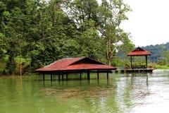 Tasik Kenyir,最大的人造湖 免版税库存图片