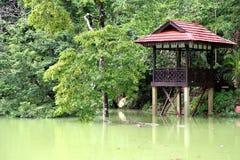 Tasik Kenyir, il più grande lago artificiale Fotografia Stock