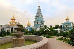 Tasjkent domkyrka av den ryska ortodoxa kyrkan Arkivfoto