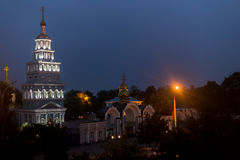 Tasjkent domkyrka av den ryska ortodoxa kyrkan Royaltyfria Foton