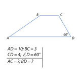 Task for calculating the basics of a trapezoid Royalty Free Stock Photo