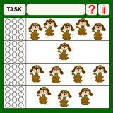 Task. Find right answer, preschool or school exercise  for kids Royalty Free Stock Images
