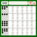 Task. Find right answer, preschool or school exercise  for kids Stock Photography