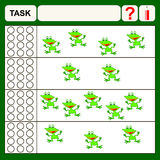 Task. Find right answer, preschool or school exercise  for kids Royalty Free Stock Photos