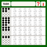 task. Task find right answer, preschool or school exercise task for kids Royalty Free Stock Image