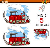 Task of finding differences cartoon Stock Photo