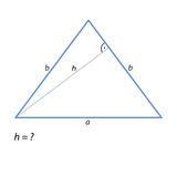 The task of finding the height of an isosceles triangle-01 Royalty Free Stock Image