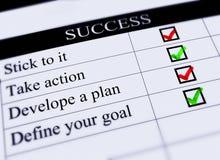 Task List for success. Stock Photos