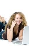 tasking телефона компьютера multi Стоковая Фотография