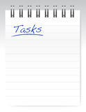 Tasks notepad illustration design Royalty Free Stock Photos