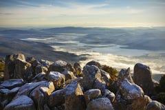 Tasmaans landschap Stock Afbeeldingen