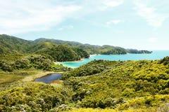 tasman abel nationalpark Arkivbilder