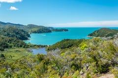 tasman abel nationalpark Arkivfoto