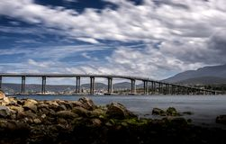 Tasman-Brücke, Hobart Tasmania lizenzfreie stockfotos