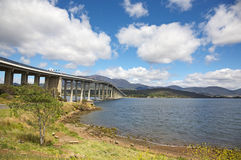 The Tasman Bridge in Hobart Royalty Free Stock Image