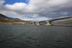 Tasman Bridge in Hobart. The Tasman Bridge crossing of the Derwent River in Hobart. Tasmania. Australia Stock Images