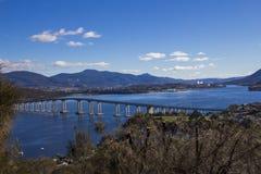 The tasman bridge into Hobart Stock Photography