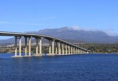 Hobart cityscape bridge Stock Images
