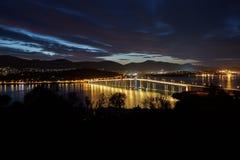 Tasman Bridge at night Stock Image
