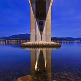 Tasman Bridge Under square lights Royalty Free Stock Photo