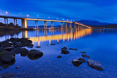 Tasman Bridge Wide Side sunrise Stock Photo