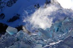 Tasman glaciär, Aoraki monteringskock National Park, Nya Zeeland Royaltyfri Fotografi
