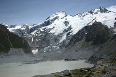 Tasman Glacier, Aoraki/Mt Cook National Park Stock Photography