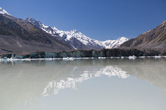 Tasman Glacier Lake. Aoraki/Mount Cook National Park New Zealand Stock Photography