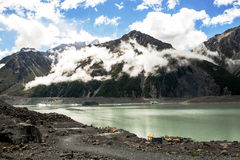 Tasman glacier lake in New Zealand Royalty Free Stock Photo