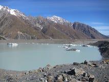 Tasman Glacier lake Royalty Free Stock Images