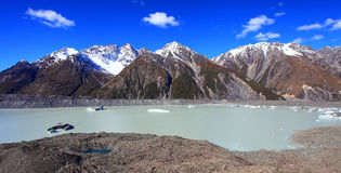 Tasman Glacier, New Zealand Royalty Free Stock Photography
