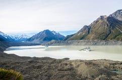 Tasman Glacier Terminal Lake in New Zealand Royalty Free Stock Images