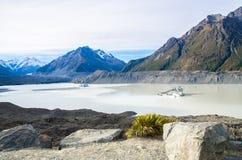 Tasman Glacier Terminal Lake in New Zealand Royalty Free Stock Photo