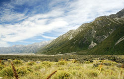Tasman Glacier Valley Stock Images
