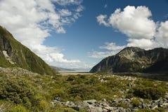 Tasman Glacier Valley Royalty Free Stock Photography