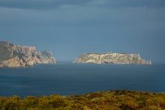 Tasman Island and Cape Pillar Stock Image