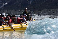 Tasman Lake, New Zealand Royalty Free Stock Image